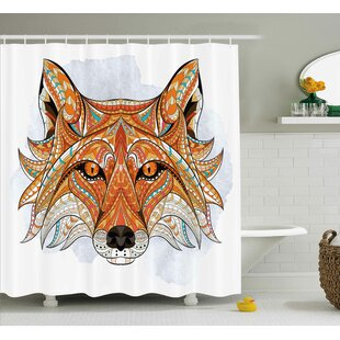 Tribal African Animals Totem Single Shower Curtain