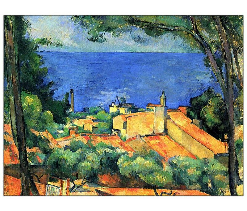 Paul Cezanne L/'estaque Canvas Art Print