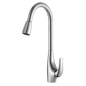 High Arch Single Handle Pull Down Kitchen Faucet with Dual Function Sprayer