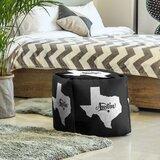 Austin Texas Cube Ottoman by East Urban Home