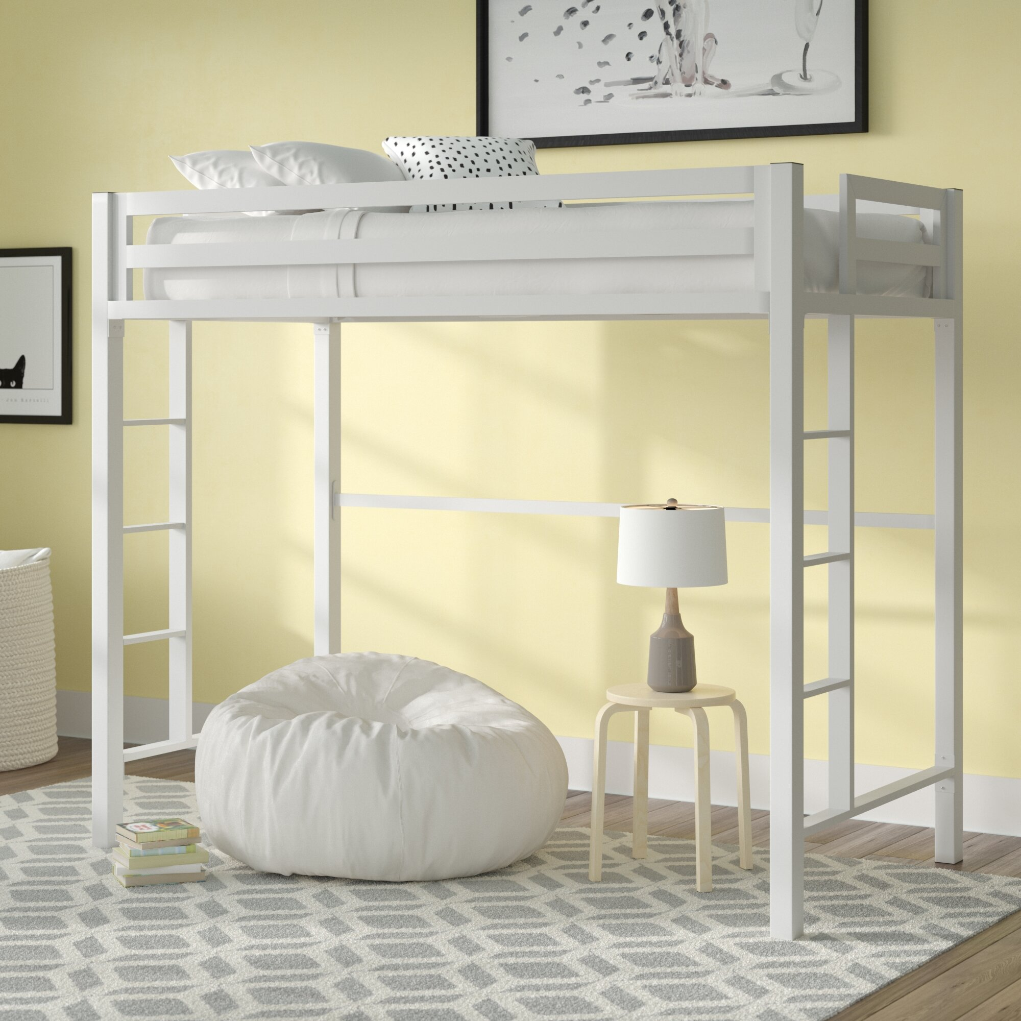 Twin Loft Bed.Giusti Twin Loft Bed