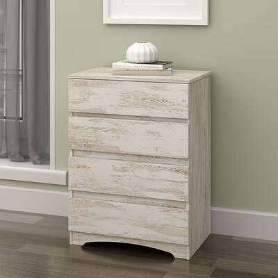 Wood 4 Drawer Dresser DEVAISE