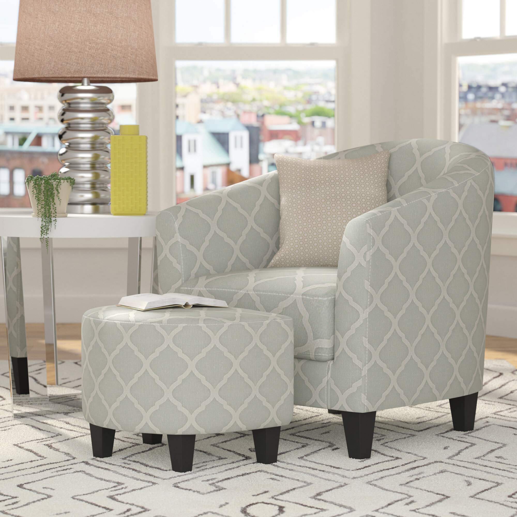 Northdale Barrel Chair and Ottoman