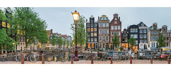 East Urban Home Cityscape I Amsterdam North Holland Province Netherlands Photographic Print On Wrapped Canvas Reviews Wayfair