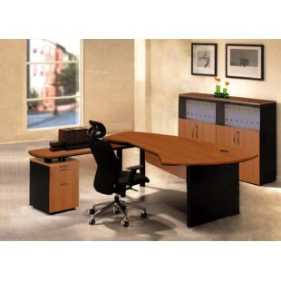 Executive Management 4 Piece L-Shaped Desk Office Suite by OfisELITE