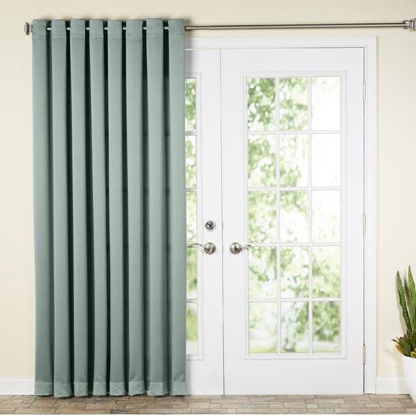 Wayfair Basics™ Wayfair Basics Solid Room Darkening Grommet Single Patio  Curtain Panel U0026 Reviews | Wayfair