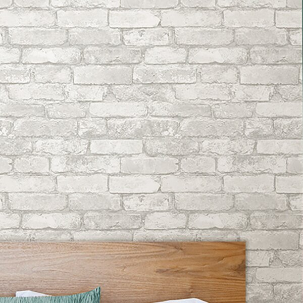 Grey And White Brick Peel And Stick Wallpaper Wallpaper Rolls Sheets Building Hardware