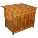 Ermengarda Kitchen Island with Wood Top by Winston Porter