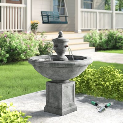 Avery Concrete Fountain Sol 72 Outdoor Finish: English Moss