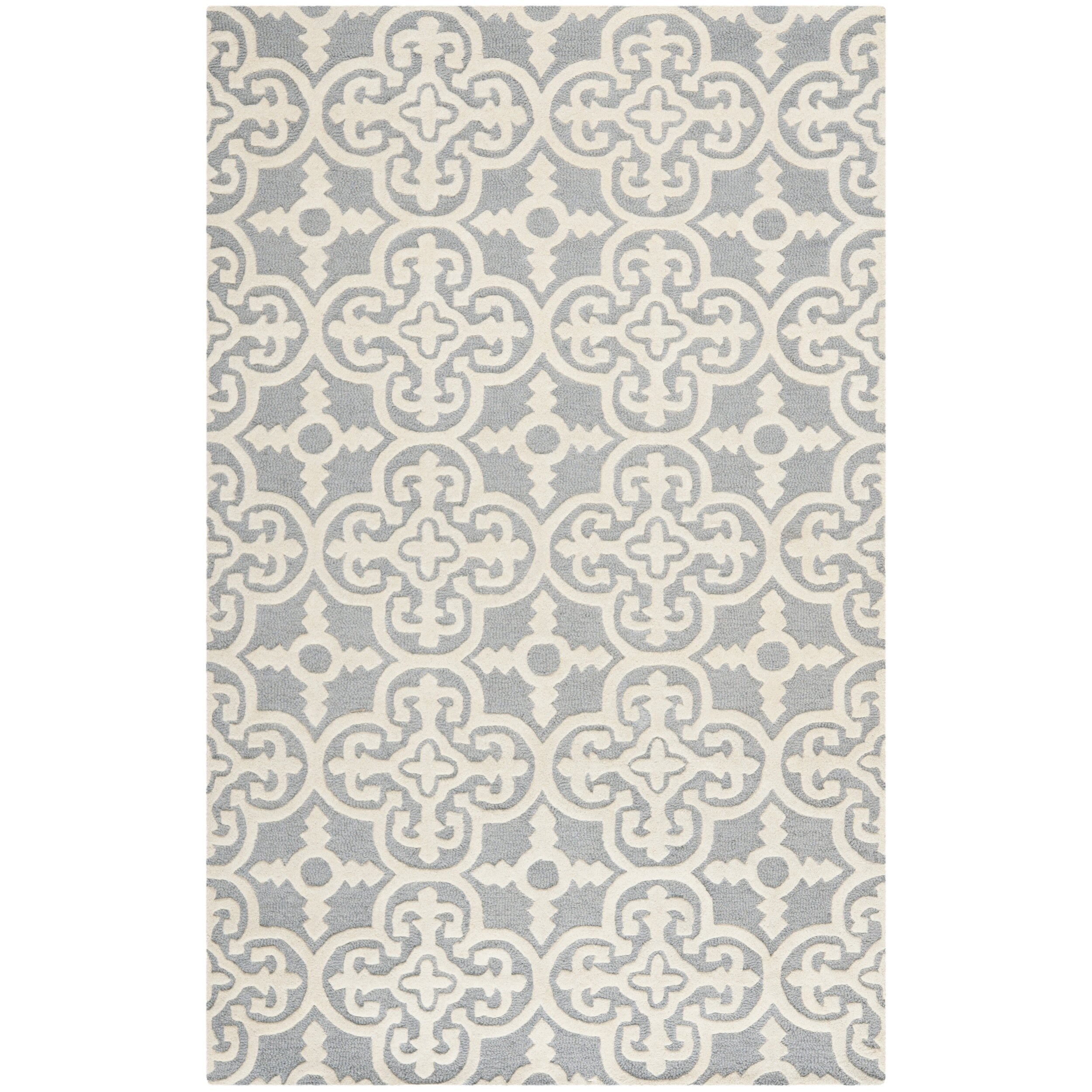 blau rug down bamboo carpet leslie gray arches silk new by geometric tufted doris arrow