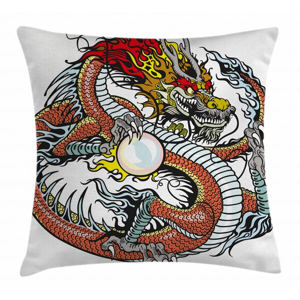 East Urban Home Dragon Indoor Outdoor 28 Throw Pillow Cover Wayfair