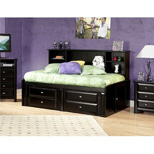 feature Savings Eldon Twin Bed with Bookcase and Storage By Harriet Bee