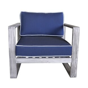 Gentil Asther Modern Outdoor Club Chair With Cushions