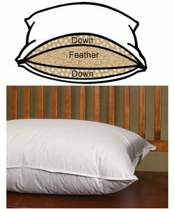Francine Surround Medium Down and Feathers Pillow