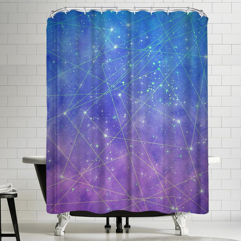 Map Of The Stars Shower Curtain