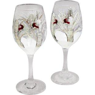 Let's Toast 14 oz. Stemmed Wine Glass (Set of 2)