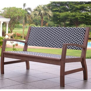 Danya Wooden/Wicker Garden Bench