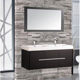 Peirce 48 Single Floating Bathroom Vanity Set with Mirror by Orren Ellis