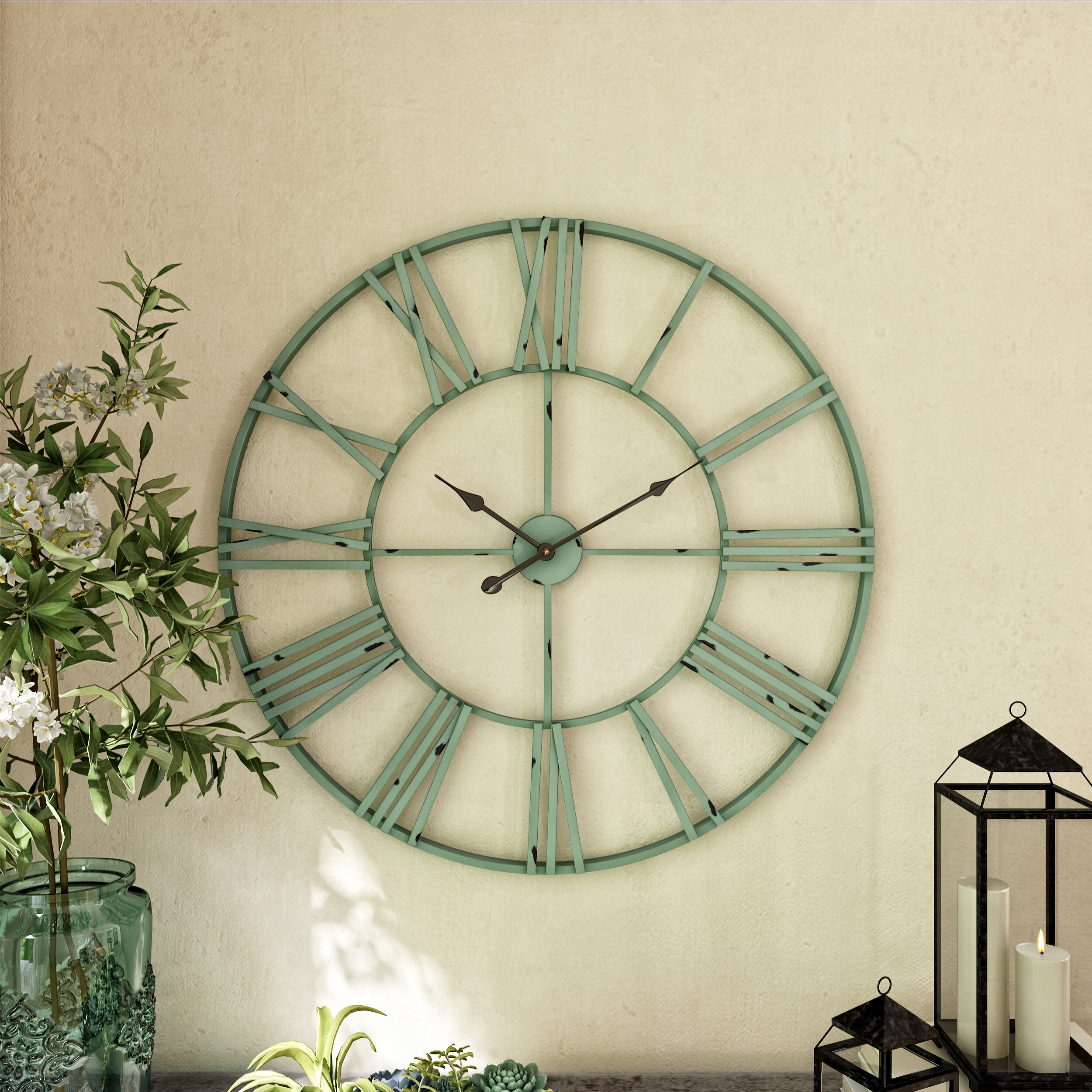 Blue Oversized Wall Clocks You Ll Love In 2021 Wayfair