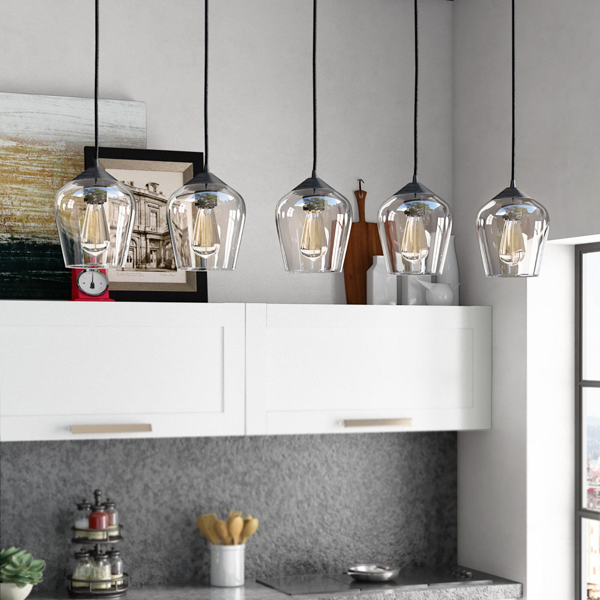 Williston Forge Scruggs 5 Light Kitchen Island Linear Pendant Reviews