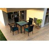 Azariah 5 Piece Sunbrella Dining Set with Cushions