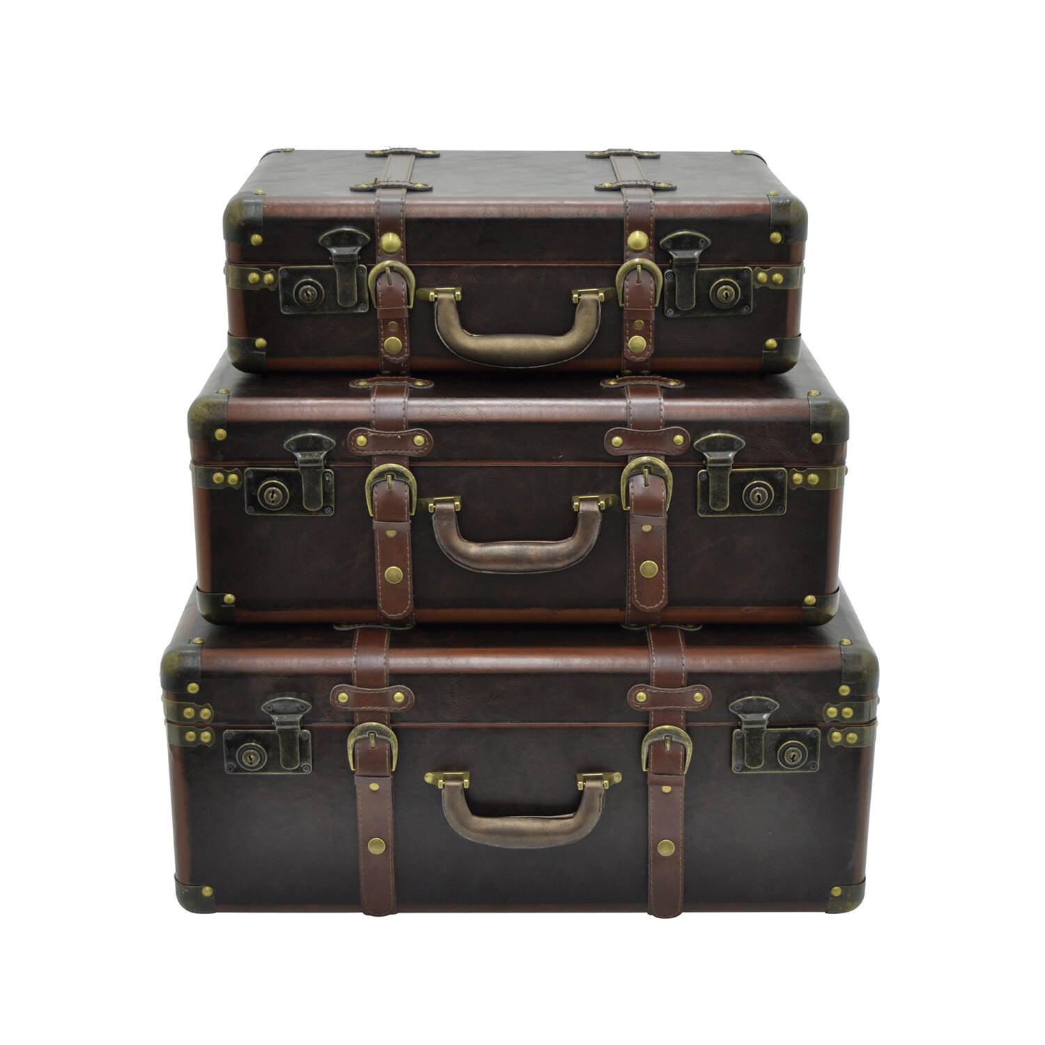 17 Stories Selma Suitcase 3 Piece Trunk Set STSS7583