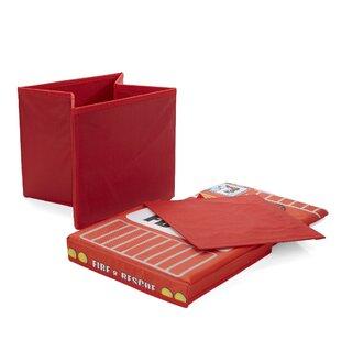 Best Review Children's Favorite Cartoon Storage Stool/Chair Fire Fighter Vehicle Toy Box ByMind Reader