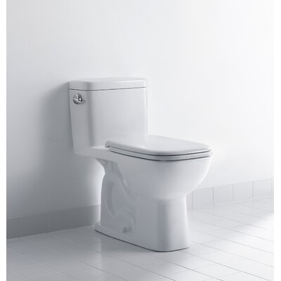 Duravit D-Code 1.28 GPF Elongated One-Piece Toilets (Seat Not Included)