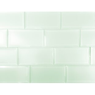 Frosted Elegance 3 x 6 Glass Peel & Stick Subway Tile in Arctic by Abolos