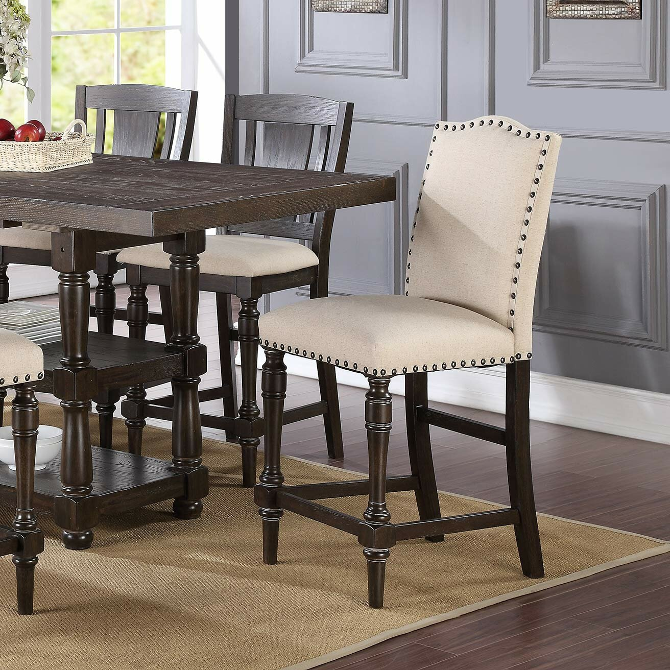 Dining Sets For 6: Laurel Foundry Modern Farmhouse Fortunat 6 Piece Counter