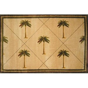 Fun Time Palm Fonds Palm Tree Novelty Rug