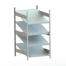 Clip S3 Gravity Fed Rack Four Shelf Shelving Unit by META Storage Solutions Inc.