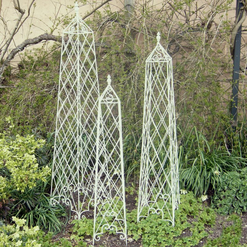 Ascalon 3 Piece Garden Ornamental Wire Planter Trellis Set & Reviews