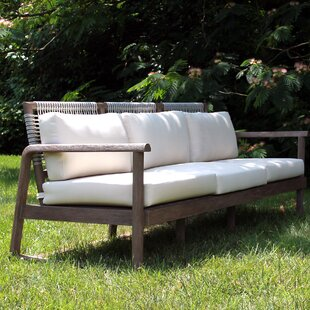 Alfresco Teak Patio Sofa with Cushions