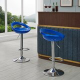 Heider Swivel Adjustable Height Bar Stool (Set of 2) by Ivy Bronx