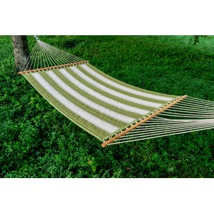 Barbieri Mossy Sunbrella Quilted Double Tree Hammock