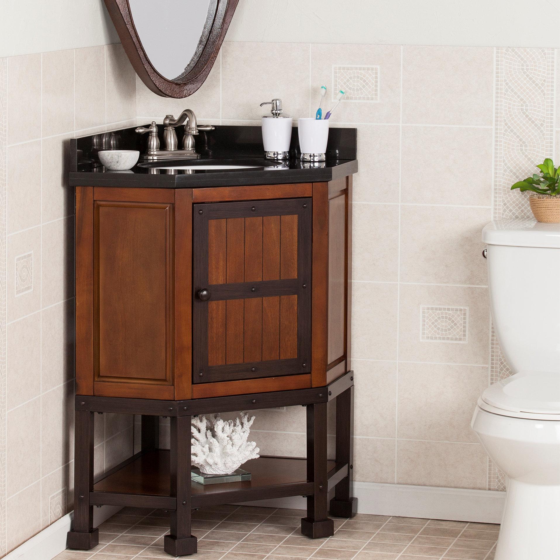 Williston Forge Clarksburg 34 Single Corner Bath Vanity Set Wayfair