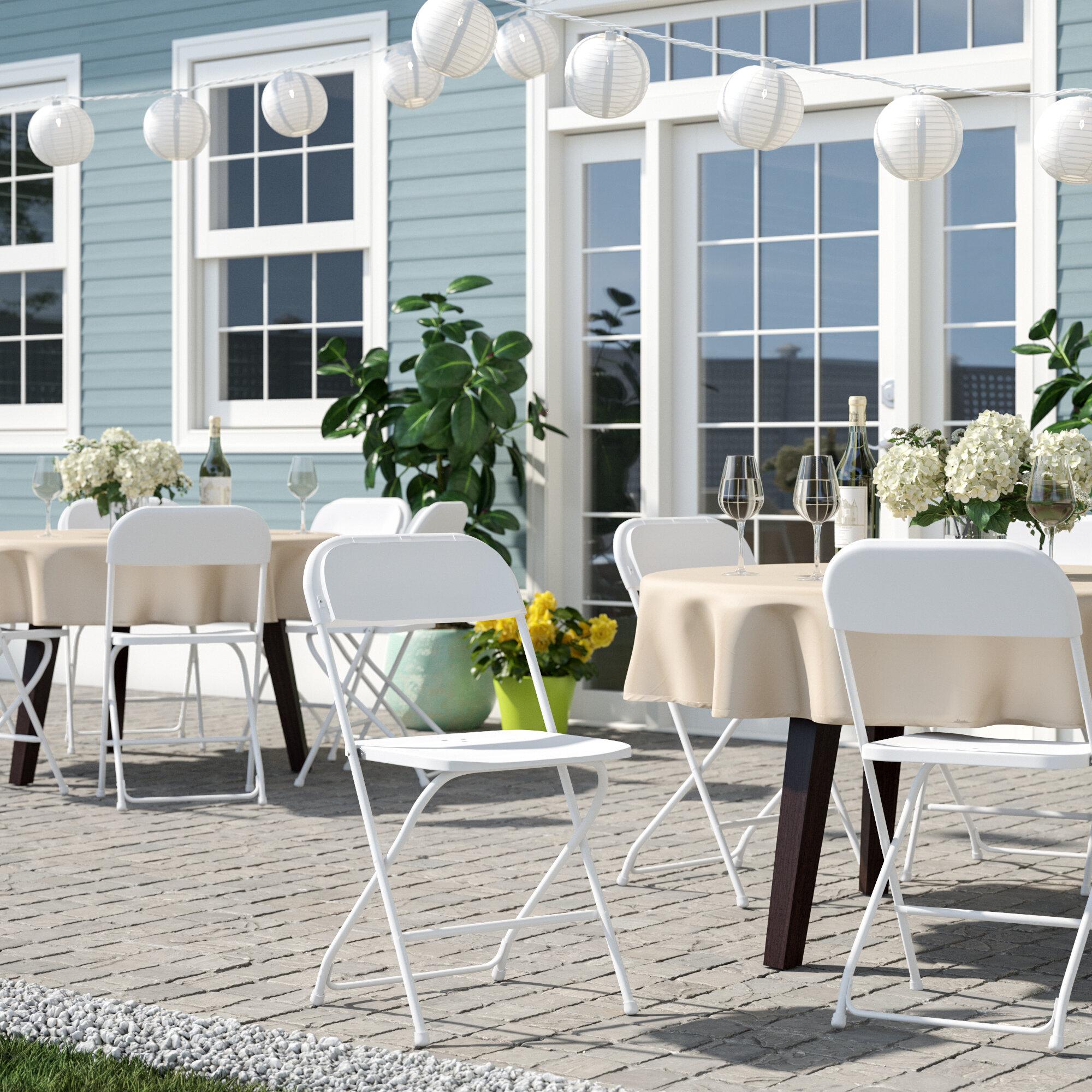 Inbox Zero Plastic Folding Chair Reviews Wayfair