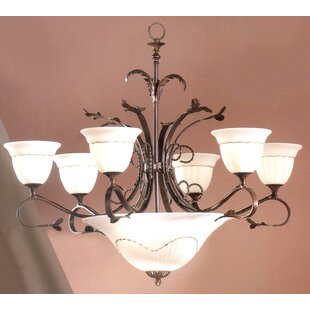 Read Reviews Treviso 9-Light Shaded Chandelier By Classic Lighting