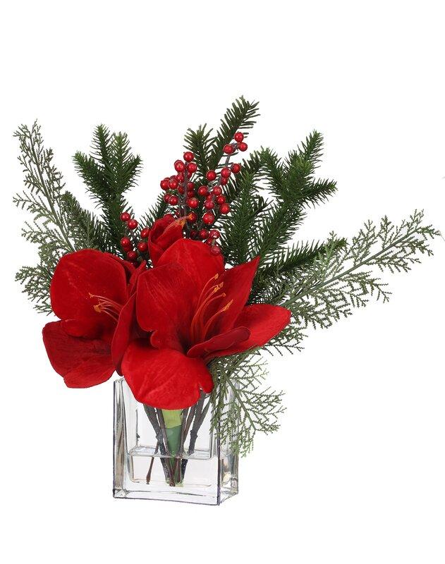 Amaryllis Floral Arrangement in Vase