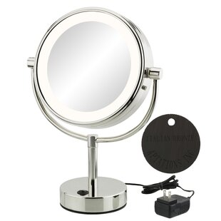 Where buy  Jignesh Modern LED Lighted Metal Frame Makeup/Shaving Mirror By Orren Ellis