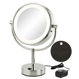 Jignesh Modern LED Lighted Vertical Makeup/Shaving Mirror ByOrren Ellis