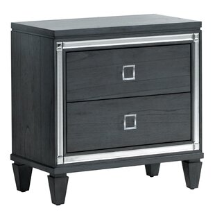 Heiner Contemporary 2 Drawer Nightstand
