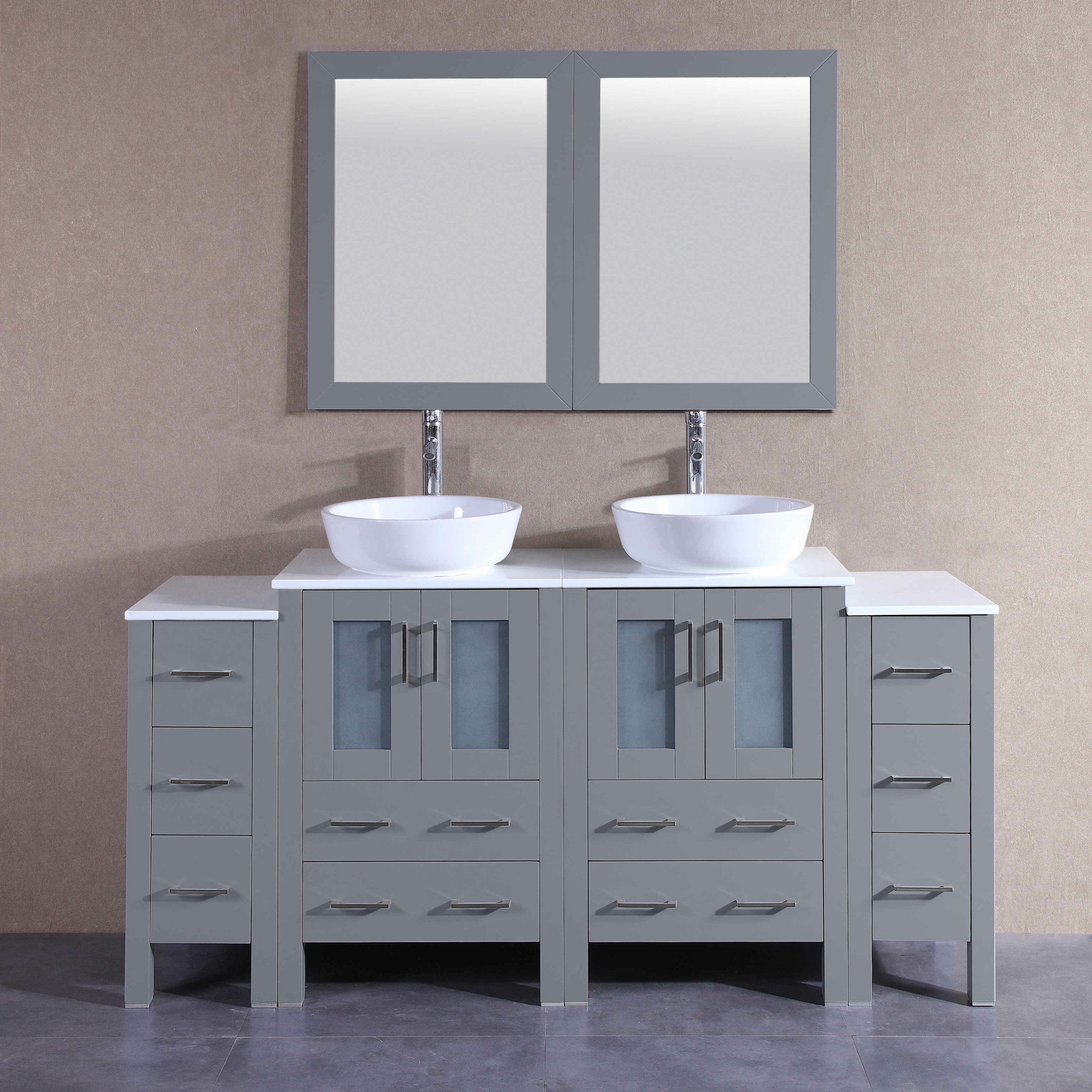 "Kilmarnock 27"" Double Bathroom Vanity Set with Mirror"