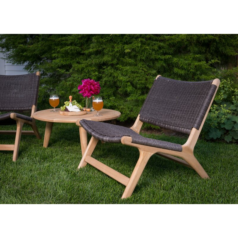 Mistana Timmerman Teak Patio Chair
