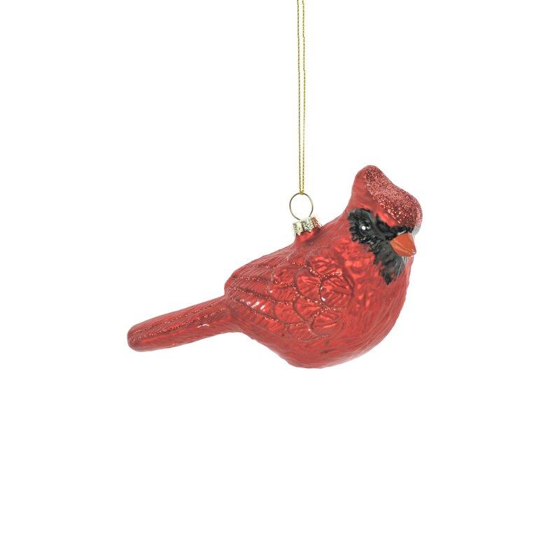 The Holiday Aisle Glass Red Cardinal Hanging Figurine Ornament Wayfair