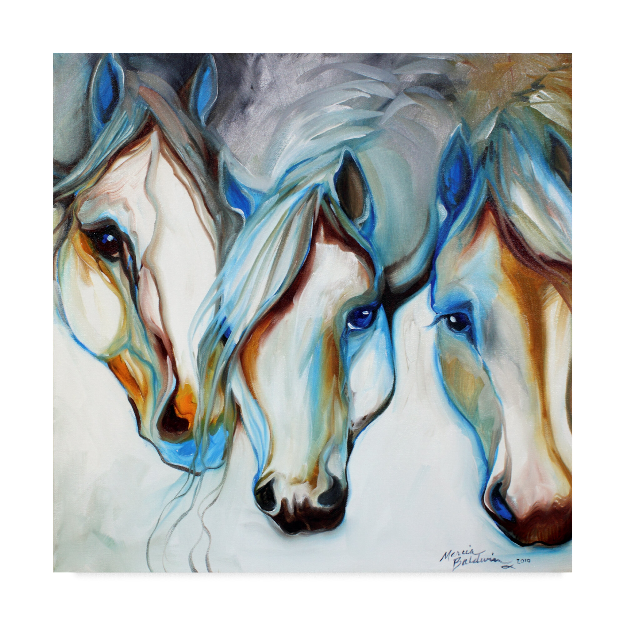 Trademark Art 3 Nobles Equine Abstract Acrylic Painting Print On Wrapped Canvas Reviews