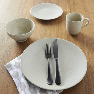 Oatmeal 16 Piece Dinnerware Set & Speckled Dinnerware | Wayfair