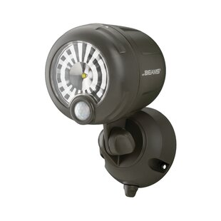 LED Battery Operated Outdoor Security Spot Light with Motion Sensor