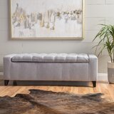 Ilchester Upholstered Flip Top Storage Bench by House of Hampton